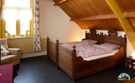 Slaapkamer van Bed and Breakfast de Blaarkop in Nieuw Wetering